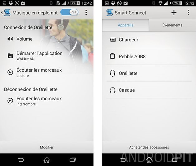 trucs astuces sony xperia z1 smart connect