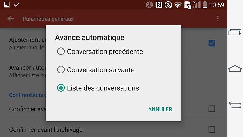 trucs et astuces gmail android avance automatique