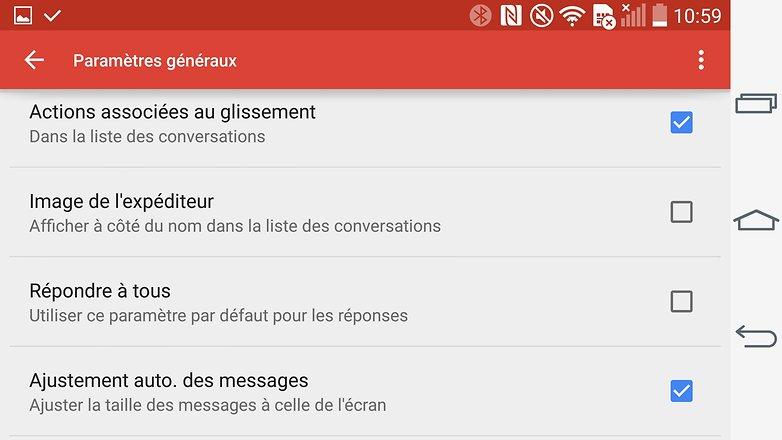 trucs et astuces gmail android parametres