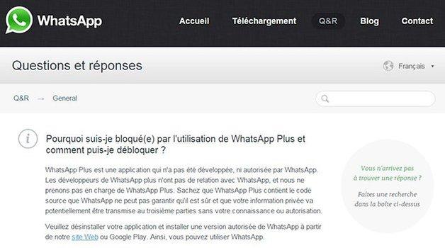 whatsapp plus bloque