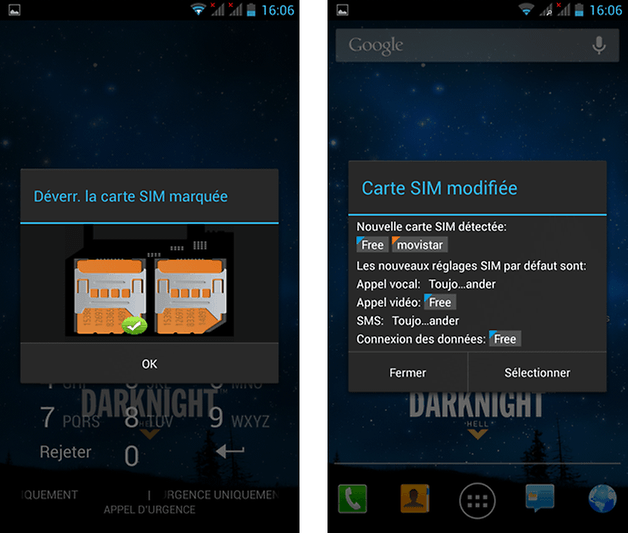 wiko darknight test sim