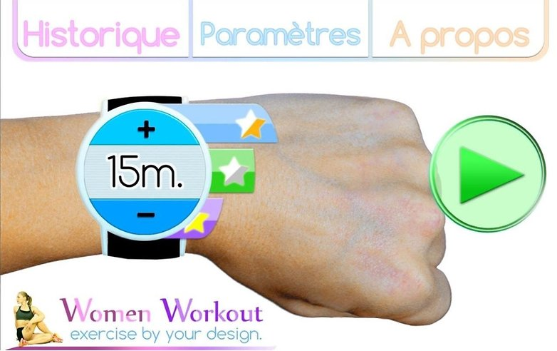 women workout app simple design