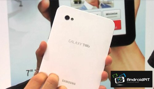 Das Galaxy Tablet von der Rückseite