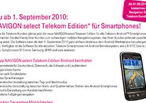 Navi kostenlos für Telekom Kunden - NAVIGON select Telekom Edition
