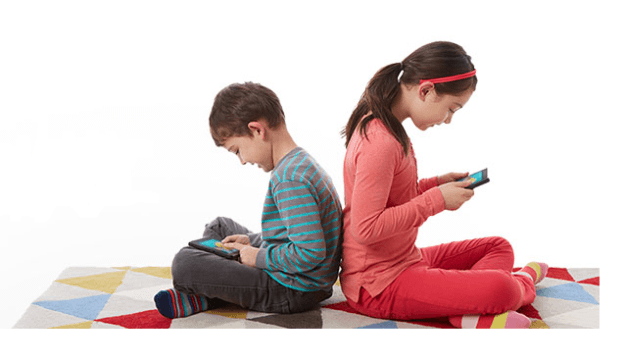Children Using the Kindle FreeTime Service