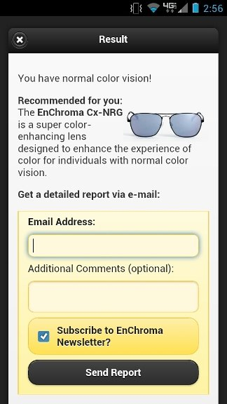 Color Blindness Test by EnChroma Personal Test Results