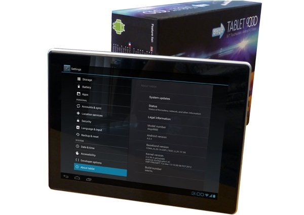 Disgo Tablet 9000 with Box Art