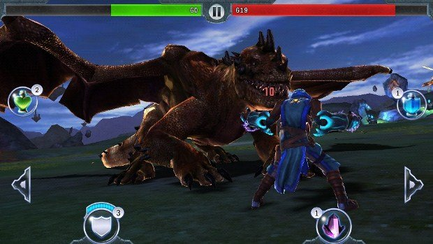 Dragon Slayer on-screen Controls