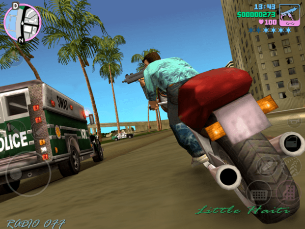 GTA Vice City- Tommy Vercetti on a bike