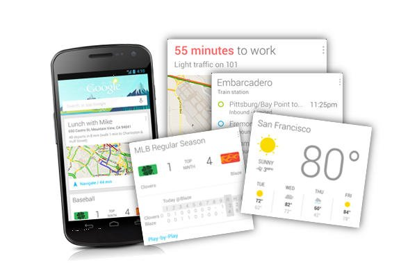 Google Now with Cards