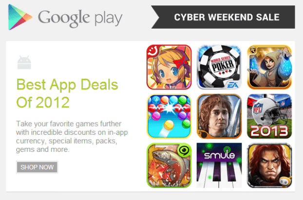 Google Play Cyber Weekend Sale