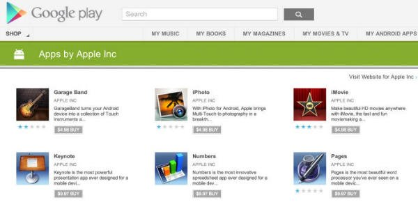 Malicious Apps in Google Play Market by Apple Inc