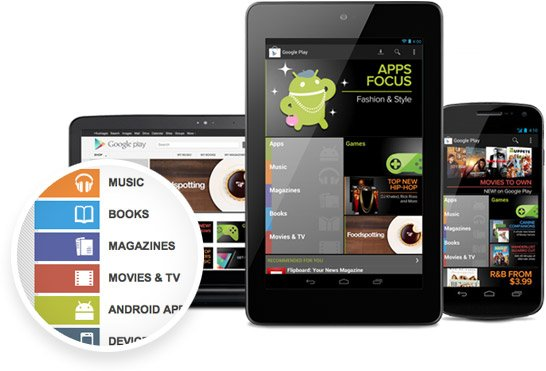Google Play Store with Android Devices