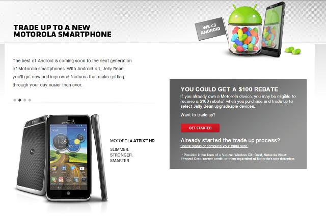 Motorola Trade-Up Program