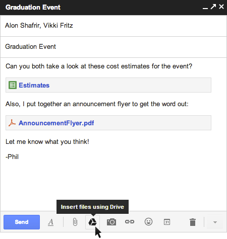 Now You Can Send Google Drive Files via Gmail