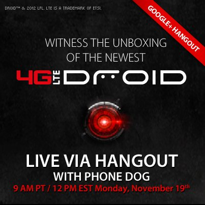 Verizon announces the newest 4G LTE Droid Unboxing Event- Rumored to be the HTC Droid DNA