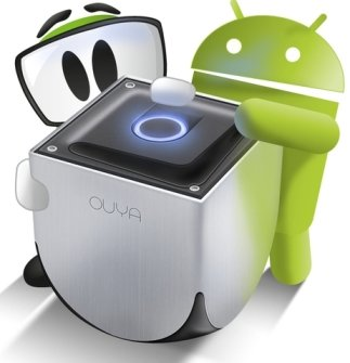 Ouya Console with Android Mascot