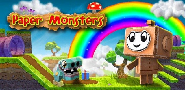 Paper Monsters Google Play Banner