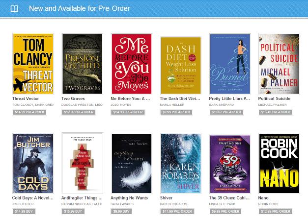 Pre-Order Google Play Books