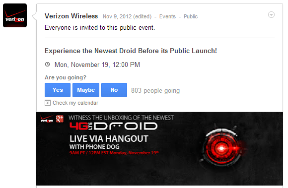 RSVP to the Verizon 4G LTE Droid unboxing event