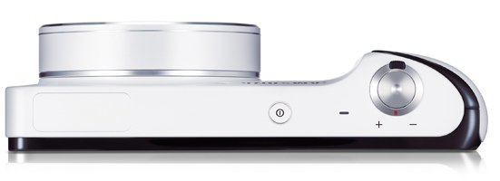 Samsung Galaxy Camera (White) laying down flat