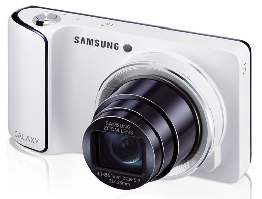 Samsung Galaxy Camera (White) Side Profile