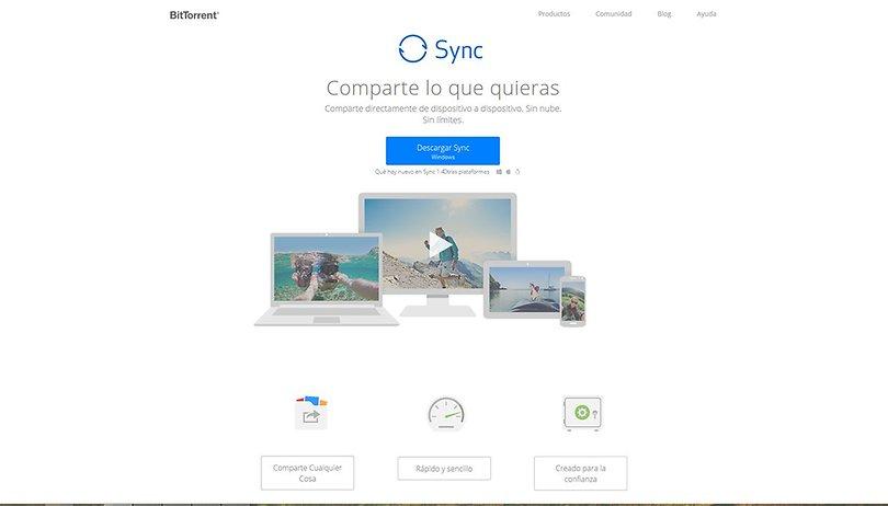BitTorrent Sync - Almacenamiento remoto sin nube