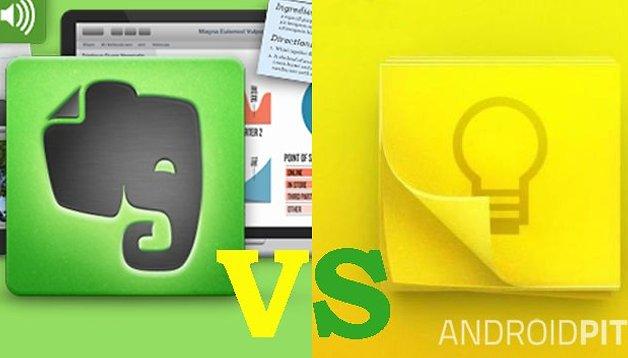 Batalla de Apps - Comparación Evernote vs Google Keep