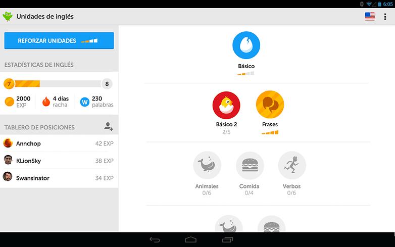 duolingo app gameplay