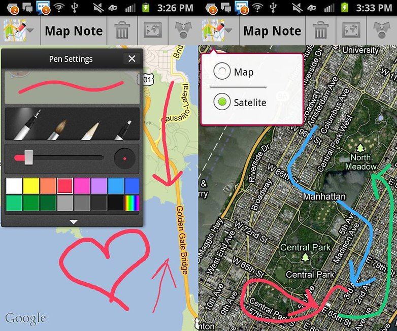 map note app