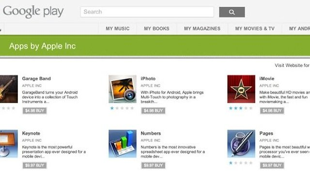 Fake Apple Apps on Google Play?