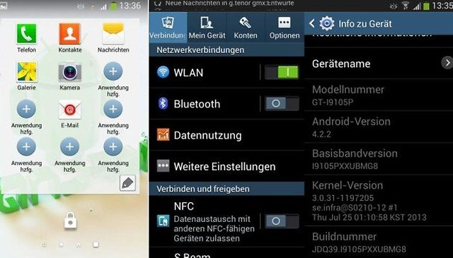 Samsung Galaxy S2 Plus Android 4.2.2 Jelly Bean Update