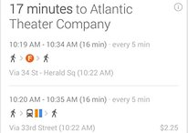 Google Now Updated, Includes Concert Tickets And Car Rentals