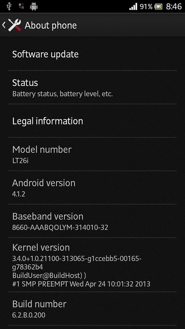 rooted xperia s