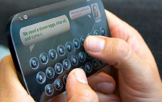 Tactus' Touchscreen-Tastatur-Konzept