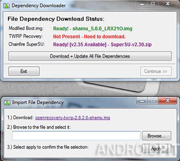 Nexus racine toolkit logiciel manquant