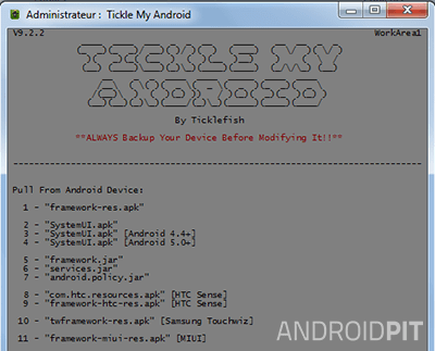 Tickle my android recuperation sur appareil