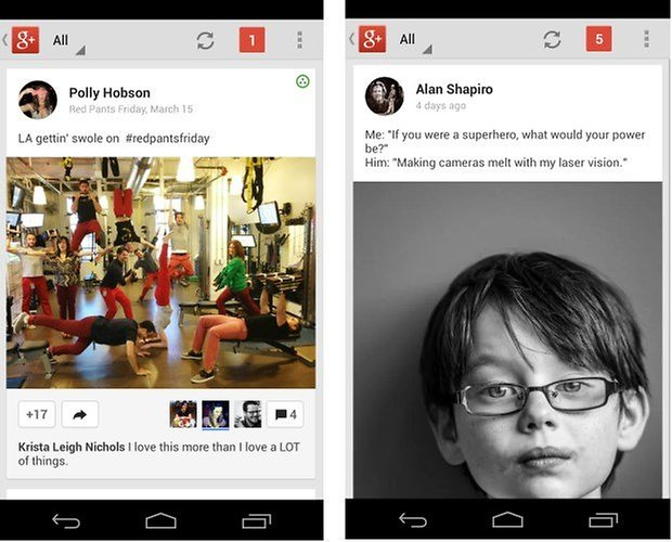 Screenshot google plus update2