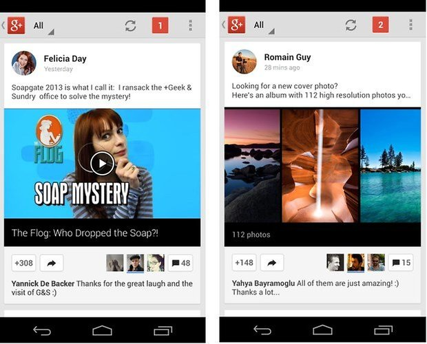 Screenshot google plus update3