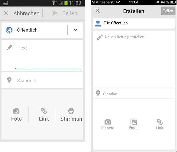 Textverfassen Android iOS vgl