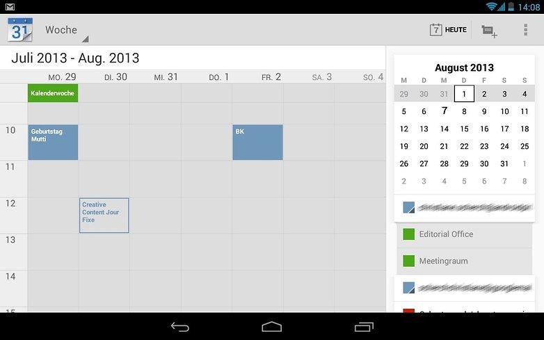 google kalender update
