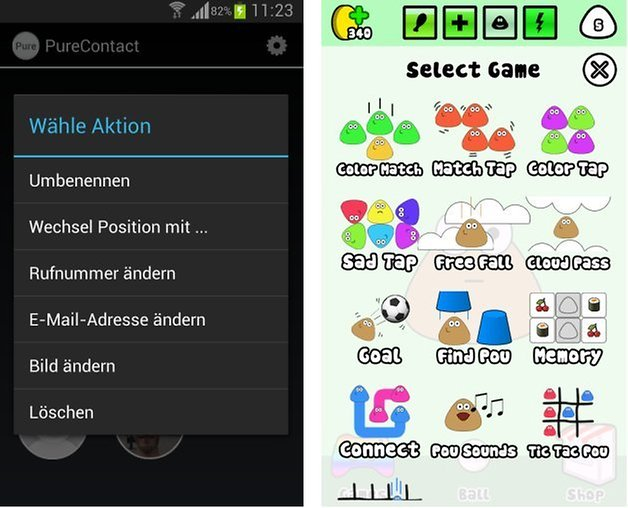 purecontact pou screenshots