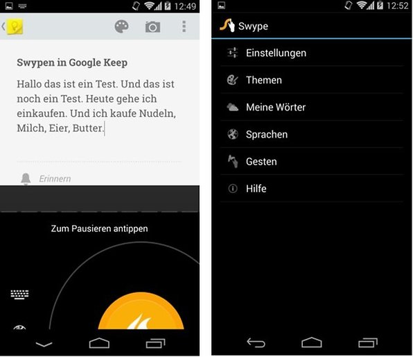 swype beta sprachen