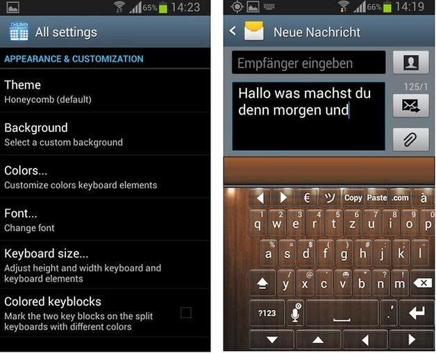 thumb keyboard screenshot4