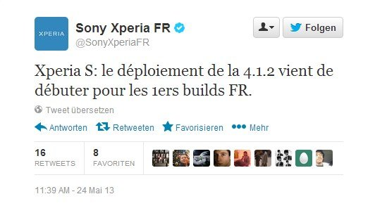twitter xperia s