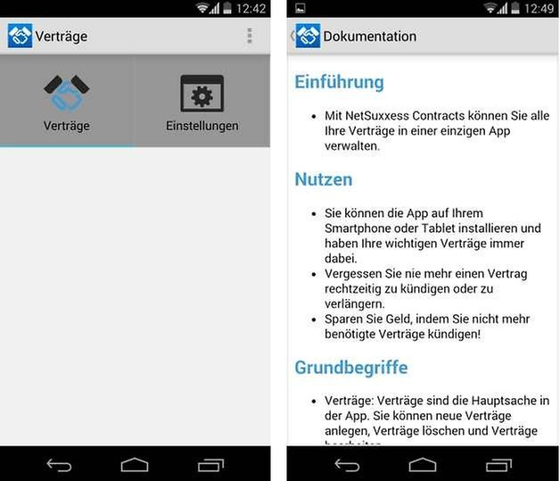 vertraege und abonnements screenshot1