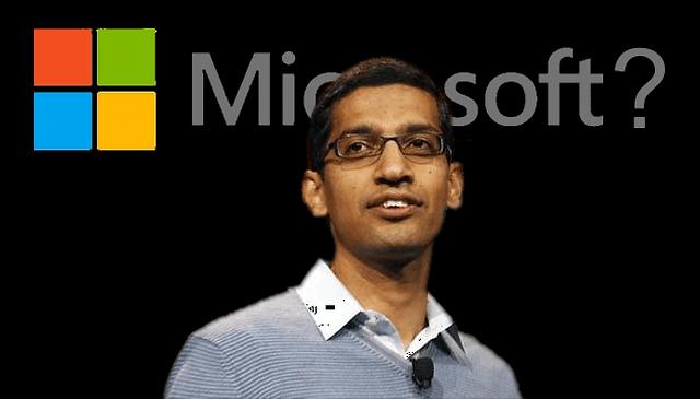 Microsoft quer Sundar Pichai como CEO