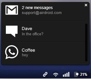 airdroid notification