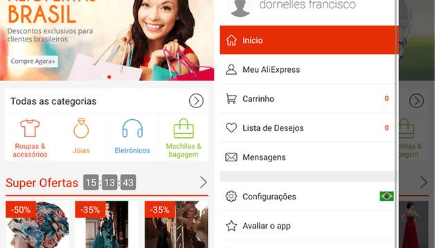 AliExpress: comprando com o aplicativo