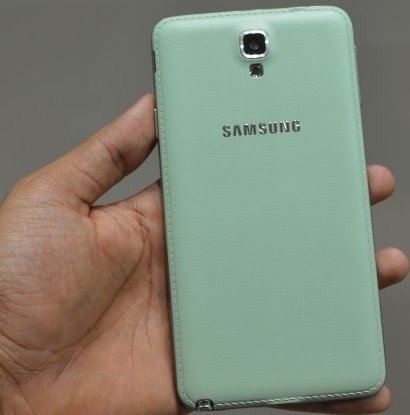 galaxy note3 mintgreen back